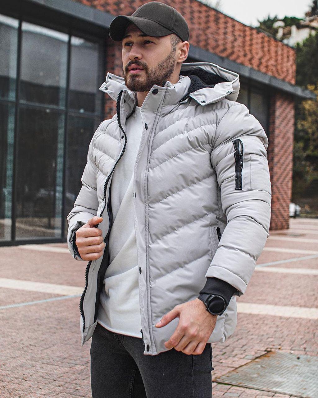 😜 Куртка - Мужская куртка зимняя серая