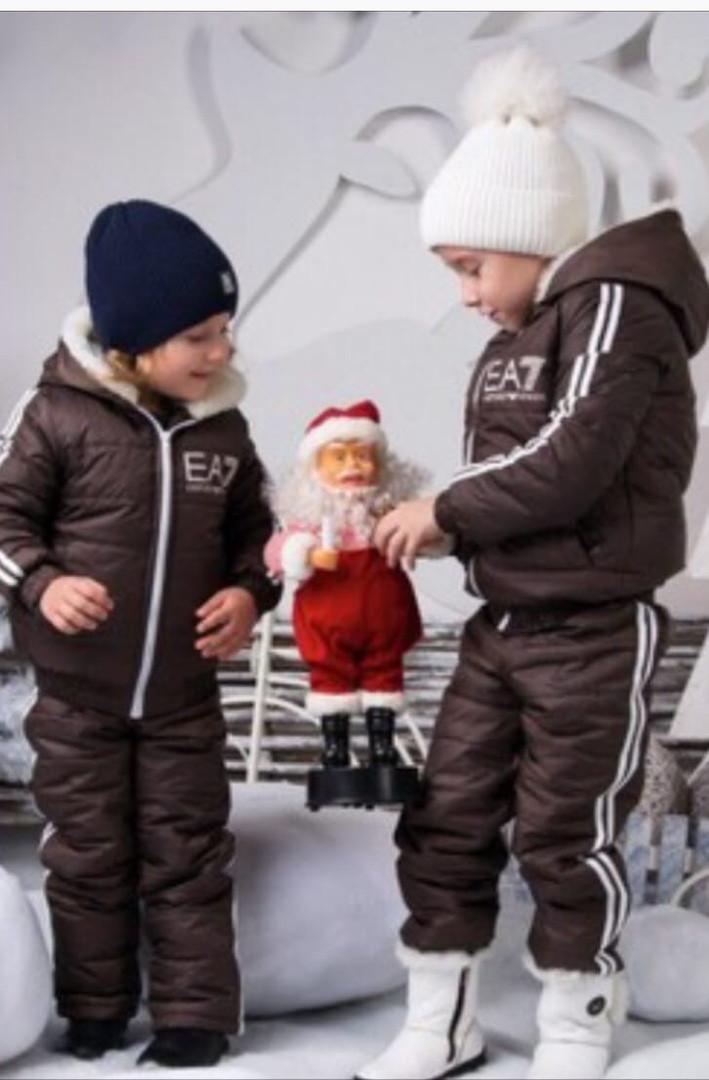 Детский зимний костюм куртка и штаны 98-104