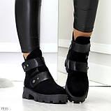Стильные молодежные зимние женские ботинки на низком ходу, фото 3