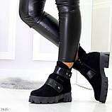 Стильные молодежные зимние женские ботинки на низком ходу, фото 4