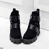 Стильные молодежные зимние женские ботинки на низком ходу, фото 5