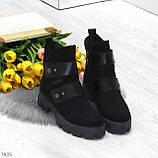 Стильные молодежные зимние женские ботинки на низком ходу, фото 6