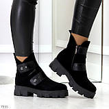 Стильные молодежные зимние женские ботинки на низком ходу, фото 9