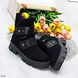 Стильные молодежные зимние женские ботинки на низком ходу, фото 10