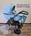 Детская коляска 2 в 1 Classik (Классик) Victoria Gold эко кожа голубой, фото 3