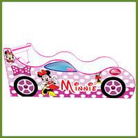 Кровать машина (ліжко дитяче) Минни Маус Драйв розовая