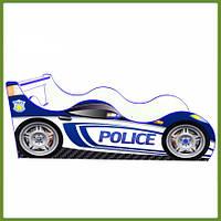 Кровать машина (ліжко дитяче) Полиция Драйв синяя