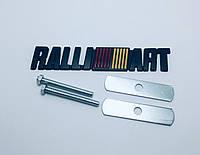 Эмблема решетки радиатора Mitsubishi Ralliart чёрная