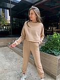 Теплый женский спортивный костюм с укороченной кофтой 39-545, фото 7