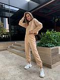 Теплый женский спортивный костюм с укороченной кофтой 39-545, фото 3