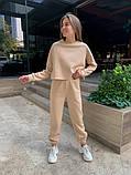 Теплый женский спортивный костюм с укороченной кофтой 39-545, фото 5