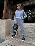 Теплый женский спортивный костюм с укороченной кофтой 39-545, фото 6