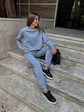 Теплый женский спортивный костюм с укороченной кофтой 39-545, фото 4