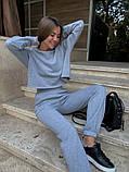 Теплый женский спортивный костюм с укороченной кофтой 39-545, фото 8