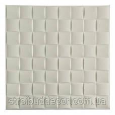 Самоклеющаяся декоративная 3D панель белый  кубик 700x700x8мм