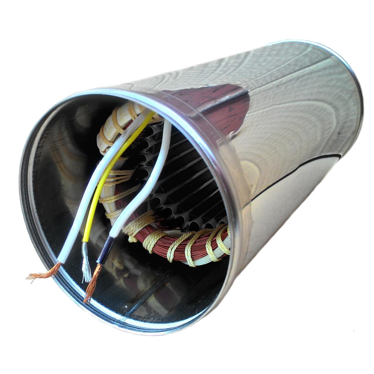 Обмотка статора в корпусе БЦПЭ 0,32-100 У для насоса Водолей