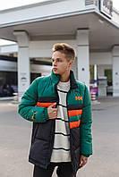 Мужская куртка парка Puma Hally Hansen удлиненная пума теплая спортивная цвет зеленый черный