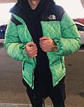 Пуховик - Мужской Пуховик зеленый The North Face, фото 3