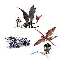Dreamworks Dragons Набор Битва на Драконьей горе: Беззубик, Иккинг, Грозокрыл, Драго
