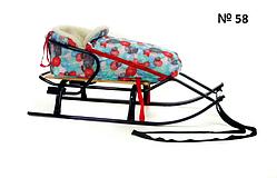 Меховой чехол с короткой спинкой с принтом больших разноцветных снежинок