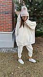 Теплый женский спортивный костюм с удлиненным объемным худи AL 39-579, фото 5