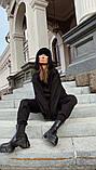 Теплый женский спортивный костюм с удлиненным объемным худи AL 39-579, фото 6