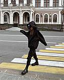 Теплый женский спортивный костюм с удлиненным объемным худи AL 39-579, фото 2