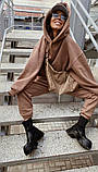 Теплый женский спортивный костюм с удлиненным объемным худи AL 39-579, фото 3