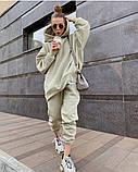 Теплый женский спортивный костюм с удлиненным объемным худи AL 39-579, фото 4