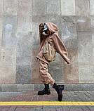 Теплый женский спортивный костюм с удлиненным объемным худи AL 39-579, фото 9