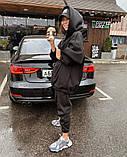 Теплый женский спортивный костюм с удлиненным объемным худи AL 39-579, фото 10
