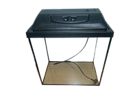 Аквариум прямоугольный 35 л с крышкой и светильником 2 в 1