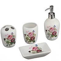 Набор для ванной A-PLUS 4 предмета (BS-203) Керамика (Уценка)
