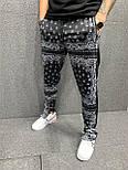Спортивні штани - Чорні спортивні штани з кишенями масивными, фото 2