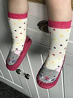 """Махровые носочки - чешки """"Мышата"""" с подошвой до 2 лет (11,5-13,5 см), Турция."""