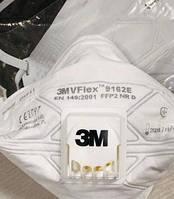 Маска 3М респіратор ФФП2 NR D VFlex 9162V с клапаном, оригинал - медицинская защитная полумаска FFP2 NR D