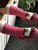 """Махровые носочки - чешки """"Пингвинчик"""" с подошвой до 2 лет (11,5-13,5 см), Турция."""