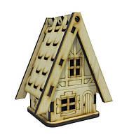 Деревянный домик №14 с открывающейся крышей,6х6х10 см Атлас AS-4263