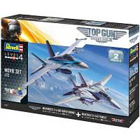 Сборная модель Revell Истребители F-14 и F/A-18E из фильма Top Gun. Масштаб 1:72 (RVL-05677)