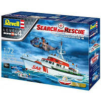 "Сборная модель Revell Набор катер ""Arkona"" и вертолет Sea King mk 41. Масштаб 1:72 (RVL-05683)"
