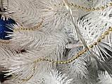 Штучна ялинка лита кристально біла 230 см, фото 4