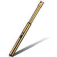 Универсальная кухонная импульсная USB зажигалка для плиты мангала и другого Gold Золото