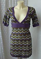 Тепле плаття в'язане міні бренд Clockhouse р. 40-42 4146, фото 1