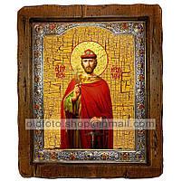 Икона Игорь Святой Благоверный Князь Черниговский  ,с посеребренным окладом 160х200 мм