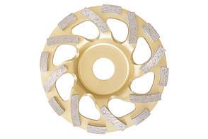 Чашка діамантова Асеса - 125 x 22,2 мм TC жовта
