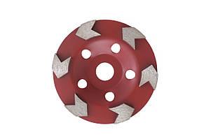 Чашка діамантова Aceca - 125 x 22,2 мм L червона