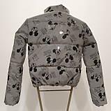 Куртка світловідбиваюча підліткова для дівчинки з рефлективної тканини з принтом Міккі Маус, фото 3