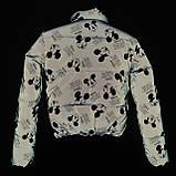 Куртка світловідбиваюча підліткова для дівчинки з рефлективної тканини з принтом Міккі Маус, фото 4