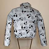 Куртка світловідбиваюча підліткова для дівчинки з рефлективної тканини з принтом Міккі Маус, фото 6