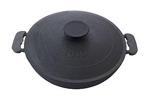 Сковорода жаровня чугунная Биол - 360 мм с крышкой